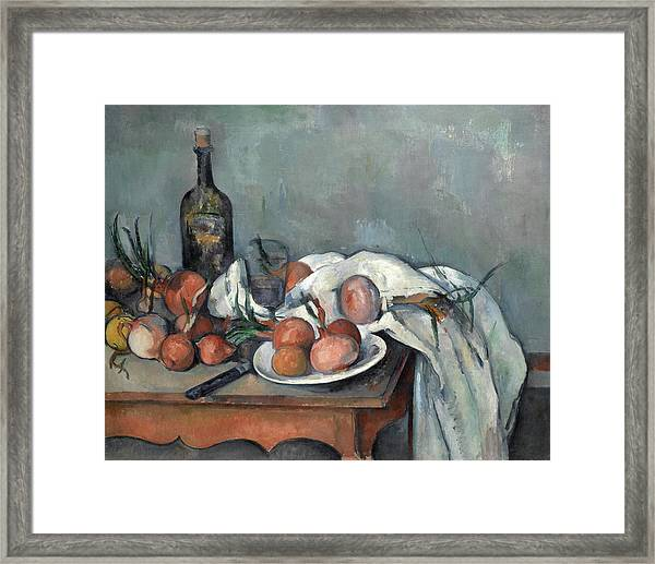 Still Life With Onions, 1898 Framed Print