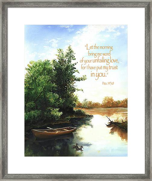 Framed Print featuring the painting Still Waters by Clint Hansen