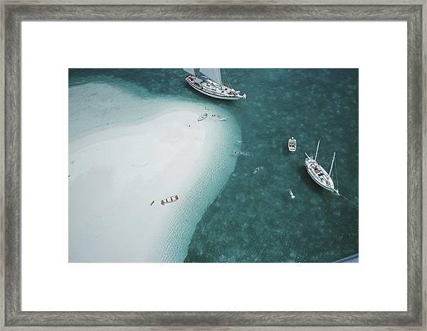 Stocking Island, Bahamas Framed Print
