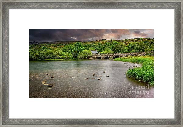 Stone Bridge Llanberis Wales Framed Print