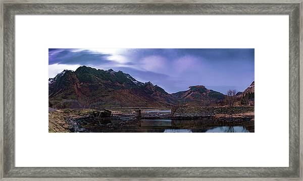 Stone Bridge On Lofoten Islands  Framed Print