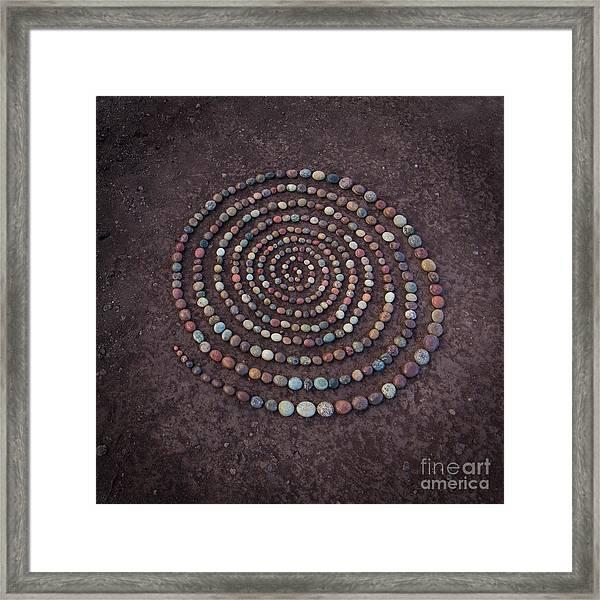 Stone Spriral Framed Print