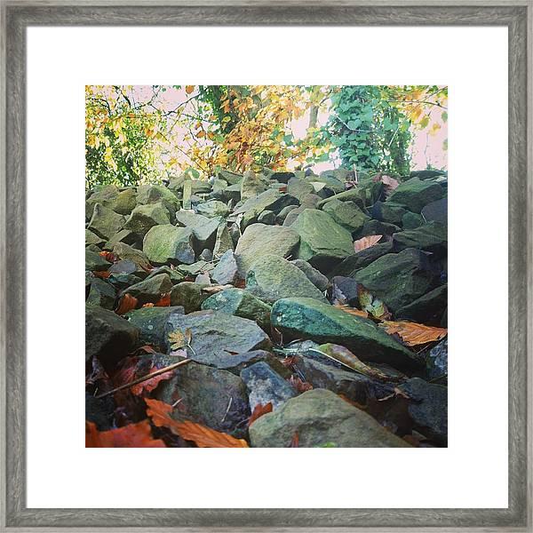 Stones Framed Print