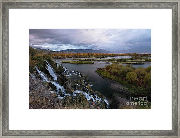 Storm At Fall Creek Framed Print