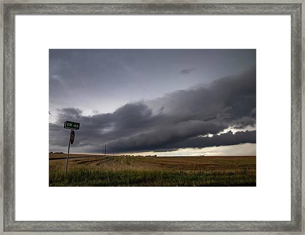 Storm Chasin In Nader Alley 004 Framed Print