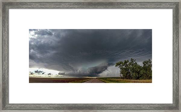 Storm Chasin In Nader Alley 008 Framed Print