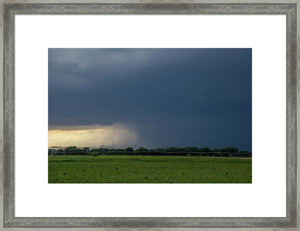 Framed Print featuring the photograph Storm Chasing West South Central Nebraska 002 by Dale Kaminski