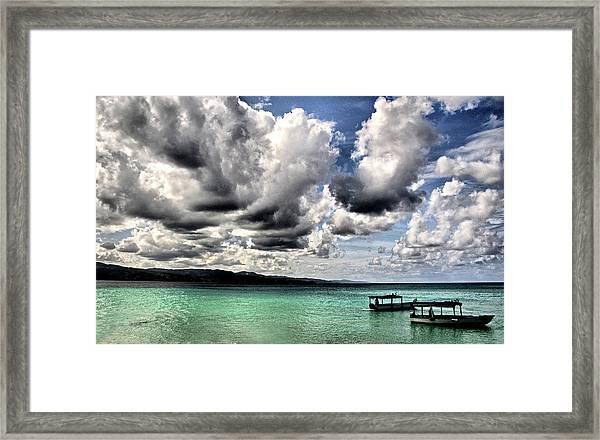 Storm Clouds At Montego Bay Framed Print
