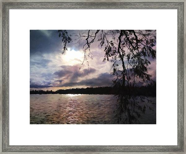 Storm Light Framed Print