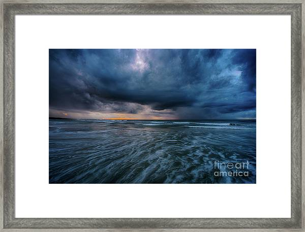 Stormy Morning Framed Print