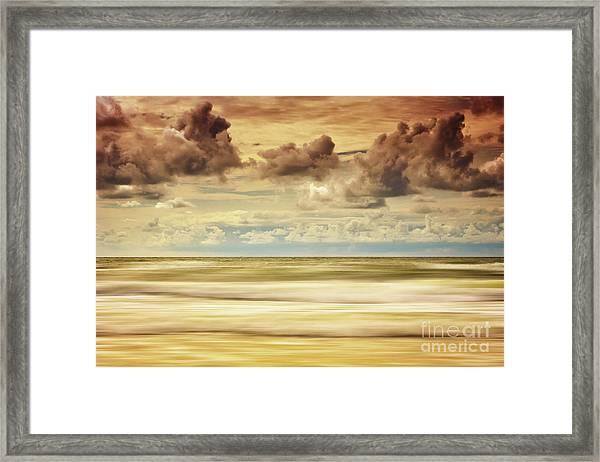 Stormy North Sea Framed Print