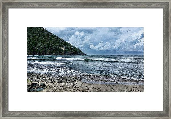 Stormy Shores Framed Print