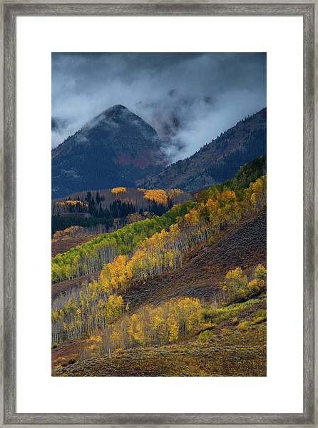 Framed Print featuring the photograph Stormy Weather Over The Elks by John De Bord
