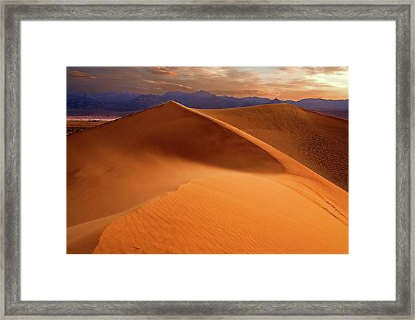 Stovepipe Wells Sunrise Framed Print by Richard Mitchell - Touching Light Photography