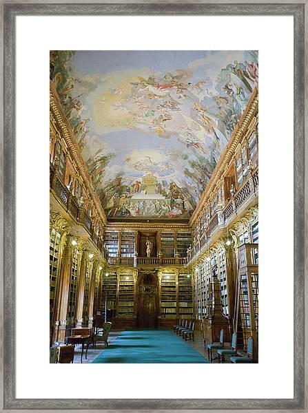 Strahov Library, Prague, Czech Republic Framed Print by Gavin Gough