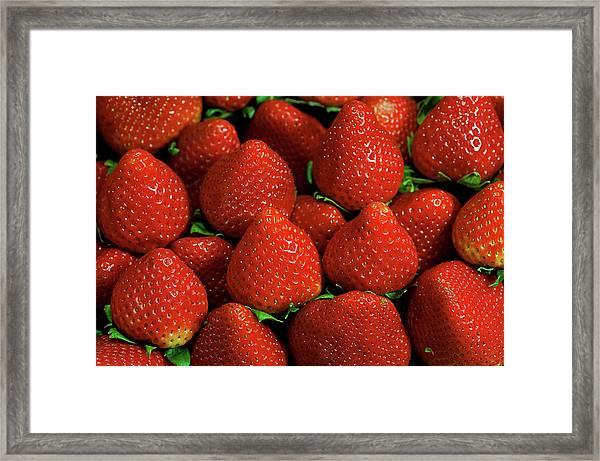 Strawberry Cliche Framed Print by By Ken Ilio
