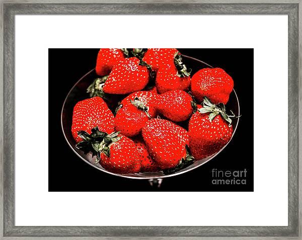 Strawberry Cocktail Framed Print