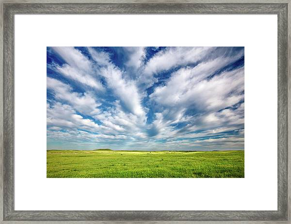 Streams Of Clouds Framed Print