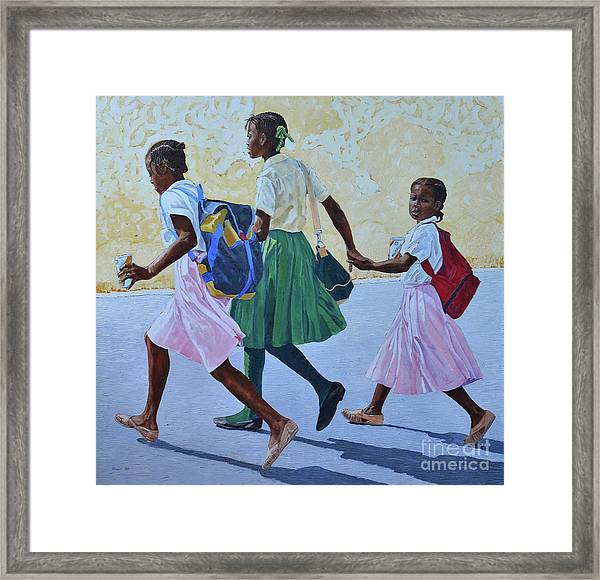 Street Crossing Framed Print