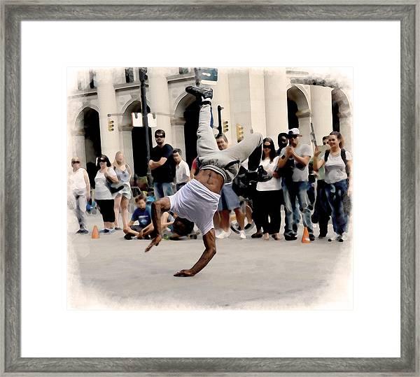 Street Dance. New York City. Framed Print