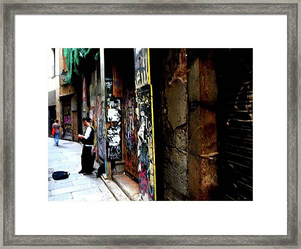 Street, Graffiti  Framed Print
