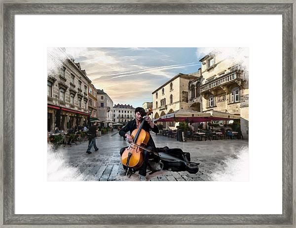 Street Music. Cello. Framed Print