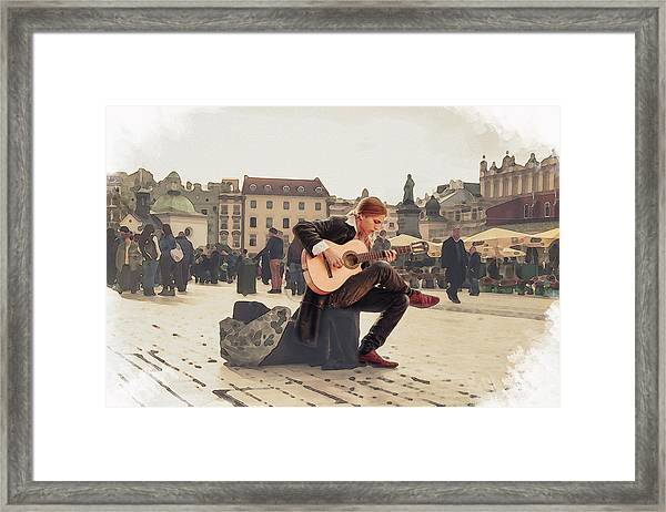 Street Music. Guitar. Framed Print