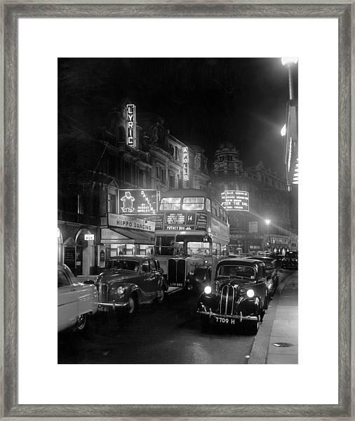Street Night Framed Print