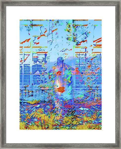 Street Performer Framed Print by Nicholas V K