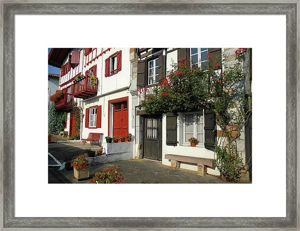 Street Scene, Ainhoa Framed Print