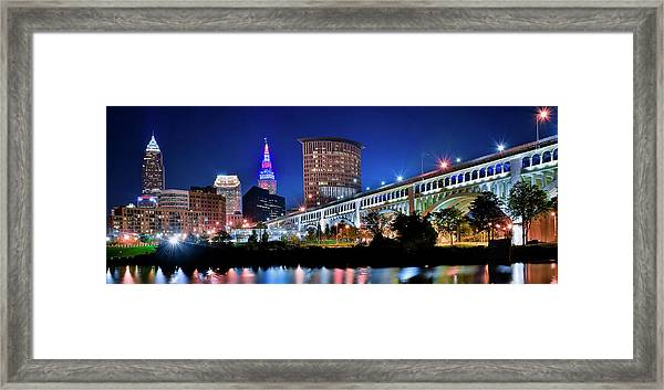 Stretching Out On A Colorful Night Framed Print