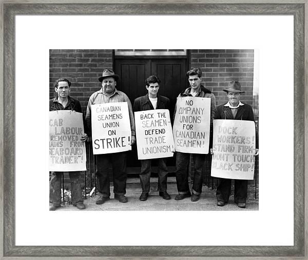 Striking Seamen Framed Print