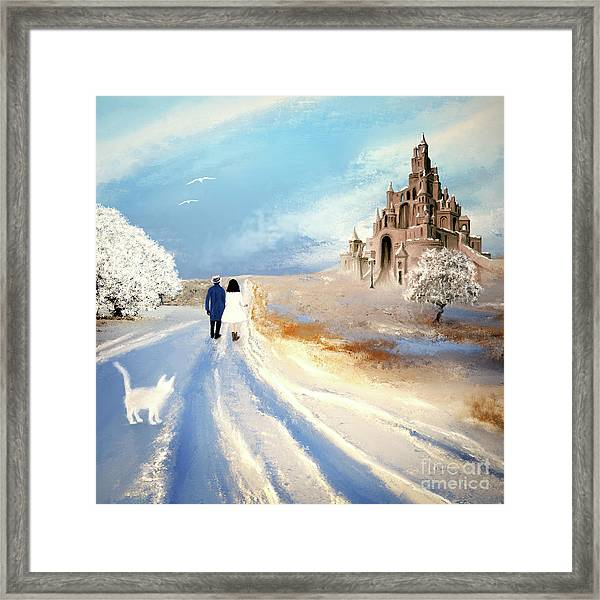 Stroll Through Winter Fantasy Land Framed Print