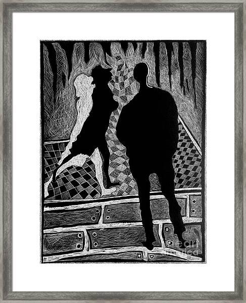 Strolling Framed Print