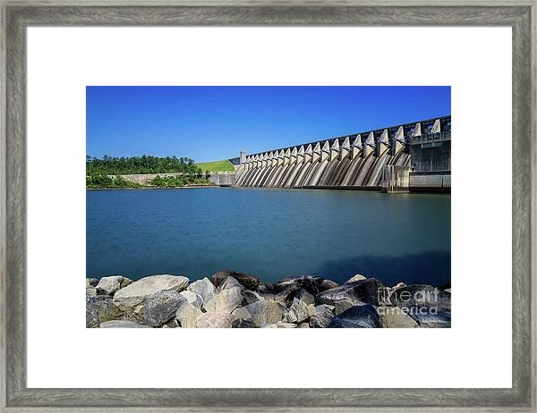 Strom Thurmond Dam - Clarks Hill Lake Ga Framed Print