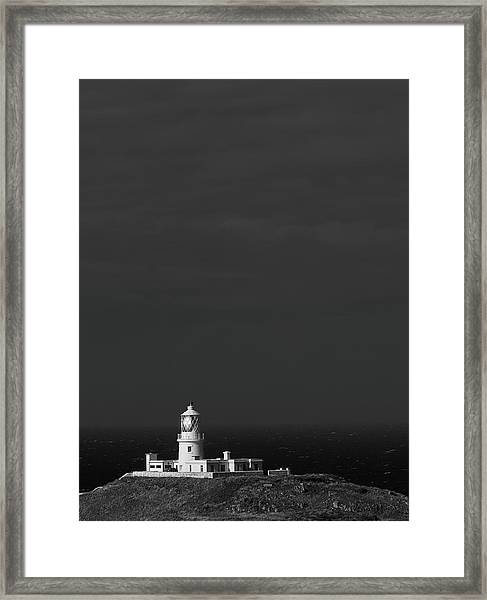 Framed Print featuring the photograph Strumble Head Lighthouse by Elliott Coleman