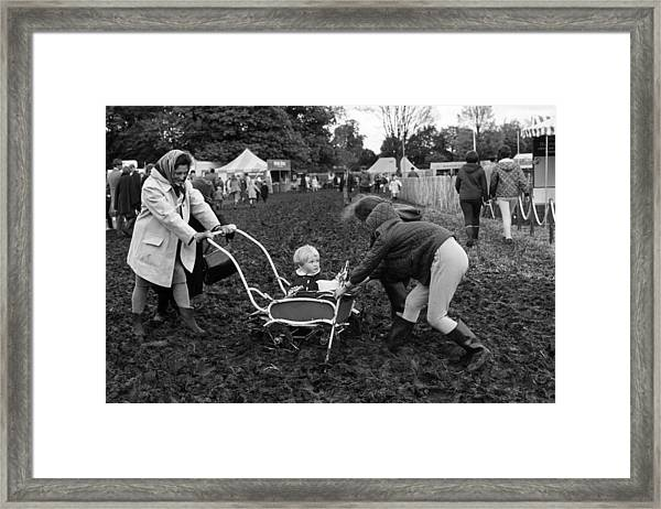 Stuck In The Mud Framed Print