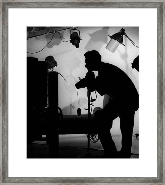 Studio Photographer Framed Print