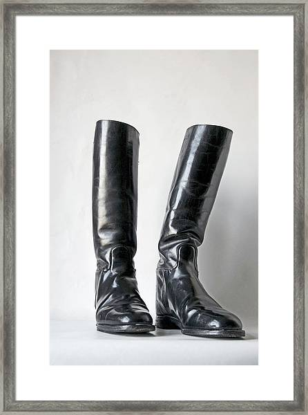 Studio. Riding Boots. Framed Print