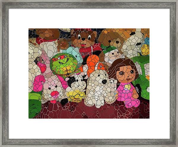 Stuffed Toys Framed Print