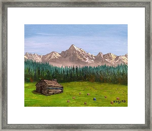 Framed Print featuring the painting Stump by Kevin Daly