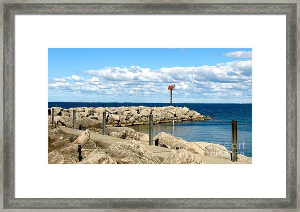 Sturgeon Point Marina On Lake Erie Framed Print