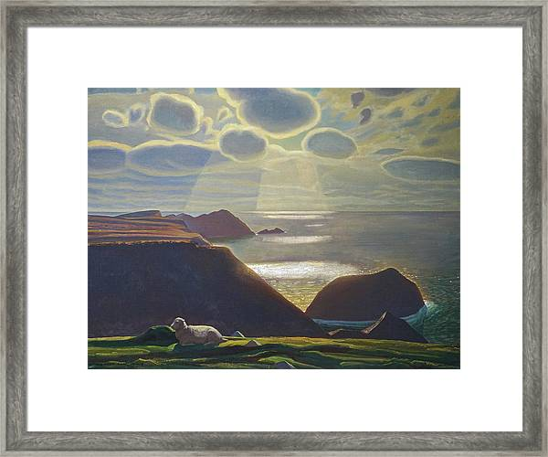 Sturrall Donegal Ireland Framed Print by Rockwell Kent