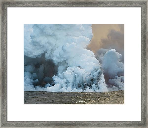Framed Print featuring the photograph Submerged Lava Bomb by William Dickman