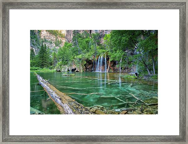 Submerged Log, Hanging Lake Colorado Framed Print