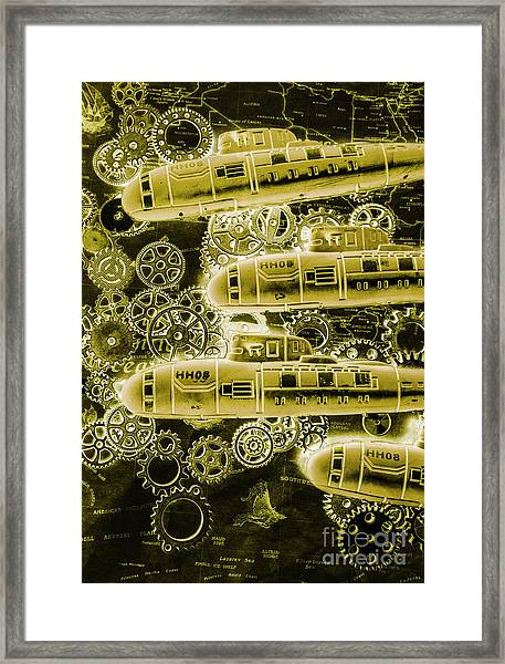 Submersible Seas Framed Print