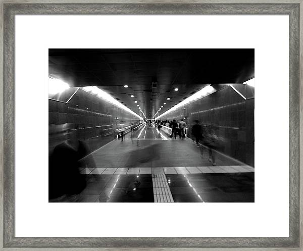 Subway Ghosts Framed Print