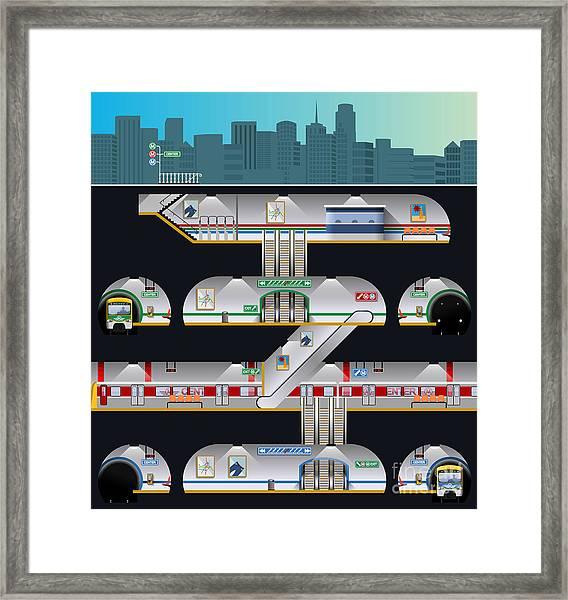 Subway Complex Framed Print