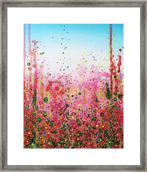 Sugar Bee Framed Print