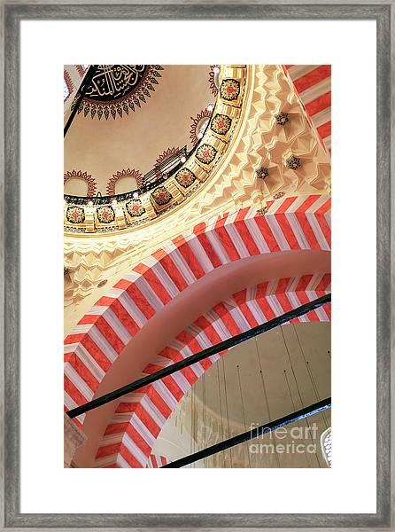 Suleymaniye Mosque Arches Istanbul Framed Print by John Rizzuto